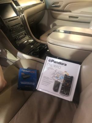 Установка автосигнализации с автозапуском Pandora DXL4910 на Cadillac Escalade защита от угона