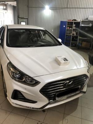 Установка автосигнализации с автозапуском Pandora DXL4910 на Hyundai Sonata защита от угона