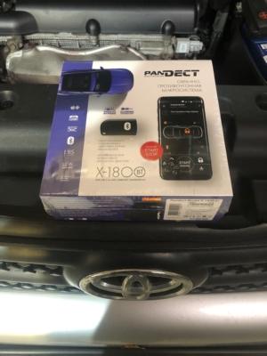 Установка автосигнализации Pandect X-1800BT на Toyota RAV4 защита от угона
